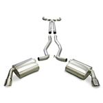 Corsa Performance Cat-Back Exhaust System with XO-Pipe, 2010 Camaro - Dual Rear Exit - Twin Pro-Series 4.0