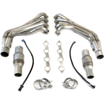 "TSP 2010  Camaro SS & ZL1 304 Polished Stainless Steel 1-7/8"" or 2"" Long Tube Headers w/ Catted Connection Pipes & Exhaust Manifold Gaskets"