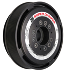 ATI Serpentine Series Damper Assembly with Hub & Aluminum Shell, Stock Diameter w/ A/C Pulley (6 Bolt Pattern)