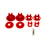 BMR Suspension Bushing kit, rear cradle, poly, inserts only