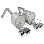 "Stainless Works 2006-13 ZO6 Axle back Exhaust w/ Polished  Quad 4"" Slash cut Conical double wall tips"
