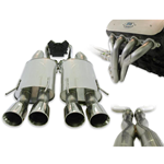 Stainless Works 2005-10 C6 Complete Exhaust System, Includes polished dual chambered turbo mufflers, and Quad 3.5