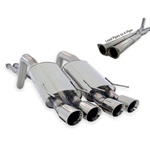 Stainless Works 2005-10 C6 Catback Exhaust System w/ Quad 3.5