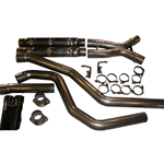 "Stainless Works 2004 GTO 3"" Exhaust System w/ chambered mufflers, exits in factory valence opening"