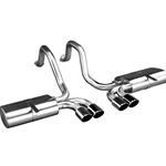 Cat-Back Exhaust w/ SATIN FINISH CLASSIC TIPS, 1997-2002 C5 Corvette