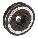 ATI Serpentine Series Damper Assembly with Hub & Steel Shell, Stock Diameter w/ A/C Pulley, LS1/LS2 Trailblazer SS and  Chevy SSR 4.6L/5.3L/6.0L
