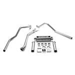 "Magnaflow Performance Exhaust, 2003-07 4.3L V6, 4.8L/5.3L V8, CLASSIC BODY STYLE, Short Bed, 3""/2.5"" SS tubing, 3.5"" rolled/p-SS tips, Dual Split Rear exit"