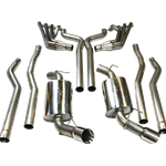 TSP 2010  Camaro SS Complete Exhaust System, Headers To Tips, Stainless Steel, Non-Catted, Off-Road X-Pipe