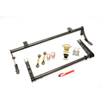 BMR Suspension 2005-11 Mustang Xtreme anti-roll bar kit, rear, hollow 32mm, splined