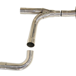 Texas Speed & Performance Polished Stainless Steel 3-Inch Off-Road Y-Pipe, 1999-2006 Chevy/GMC 1500 2WD Truck