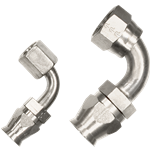 Billet Specialties Power Steering Hose Fittings - 90 Degree