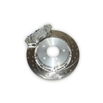 Aerospace Components 4 Piston Pro Street Front Drilled, Slotted, Plated Brake Kit 93-02 Camaro/ Firebird (Hat Style)