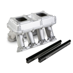 Holley EFI Hi–Ram Intake, 2 x 4150 (2 x 1000cfm sideways or inline mounting) – For LS3/L92
