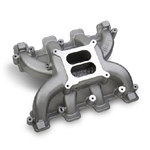 Holley Carbureted Mid-Rise Intake Manifold, GM LS1/LS2/LS6 - BLACK