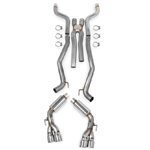Hooker Blackheart Cat-Back Exhaust Kit with X-Pipe 2012-2014 Camaro SS 6.2L- V8 304SS, NPP Option With Mufflers