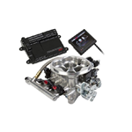Holley Terminator Polished LS TBI Kit - LS1, LS6, & 99-07 4.8/5.3/6.0 Truck Engines w/ 24x Reluctor, With Transmission Control