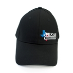 Texas Speed & Performance Black Fitted Cap with TSP Color Logo