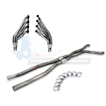 "Texas Speed & Performance 2"" 304 Stainless Steel Long Tube Headers & 3"" Catted X-Pipe 09-14 CTS-V"
