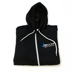 Texas Speed & Performance Black Full-Zip Hoodie with TSP Color Logo on Left Crest