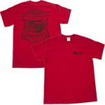 Texas Speed & Performance Camshaft T-Shirt, Red w/ Black Lettering