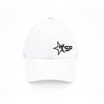 Texas Speed & Performance White Fitted Cap with TSP Star Logo