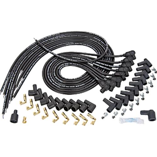 taylor spiro pro 8mm universal wire kit 90 degree boots rh texas speed com Car Wiring Harness Round Bezel Wiring Harness Plugs