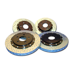Baer Decelarotor (1 Piece) Rotors, Slotted and Drilled, 1997-2004/2005-2008 Corvette, Front Pair