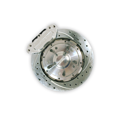 Aerospace Components 4 Piston Front Pro-Street Drilled, Slotted, Plated Brake Kit 55-62 Corvette
