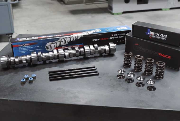 Our Camshaft Packages provide customers with a complete camswap option which includes; TSP Camshaft, PAC Springs w/ Titanium Retainers, Chromemoly Pushrods.