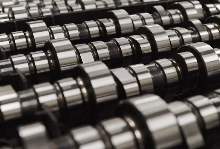 We stock over 1,500 camshaft cores at all times to accommodate a wide variety of grinds and material. We keep over 1,500 camshaft cores stocked at all times to accommodate a wide variety of grinds and material.